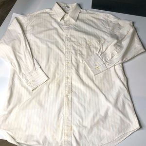 Giorgio Armani Mens 15 Button Up Striped Shirt